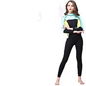 HISEA® Mujer Trajes térmicos A prueba de radiaciones Neopreno Traje de buceo Mangas largas Trajes de buceo-Natación Buceo Surfing Velero