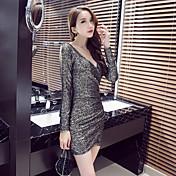 Signo 2016 mujeres sexy club nocturno delgado cadera del paquete fino bottoming vestido vestido de corte bajo apretado