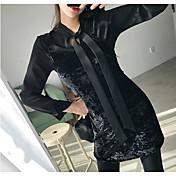 韓国の春の新しいスリムセクシーなベルベットハーネスドレス