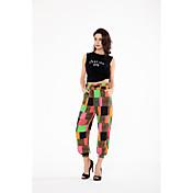 Tiro real en el verano 2017 nuevas pantalones europeos y americanos de la impresión nueve pantalones de los puntos comercio exterior ebay