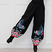 冬の新しい国の風の鯉の刺繍の綿のカジュアルなズボン