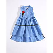 Vestido Chica de Casual/Diario Escocés Algodón Verano