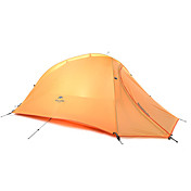 1 osoba Stříška Dvojitý skládací stan jeden pokoj Camping Tent Silikon Skládací Přenosný-Kempink Outdoor-Oranžová