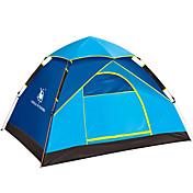 3-4人 テント ダブル 自動テント 1つのルーム キャンプテント 1500-2000 mm ファイバーグラス 防湿 防水 防雨 防風性-ハイキング キャンピング 釣り 旅行 屋外-スカイブルー アーミーグリーン
