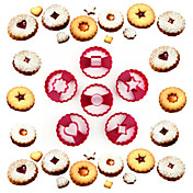 ベーキングモールド ハート フラワー 星形 ケーキのための クッキーのための プラスチック DIY 高品質 環境に優しい