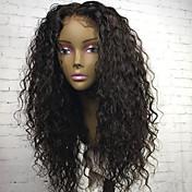 赤ちゃんの髪と新しいスタイルのシルクトップレースフロント人間の髪のかつら黒の女性のための130%の密度ブラジルの処女の人間の髪自然なヘアライン送料無料