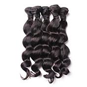 Lidské vlasy Vazby Malajské vlasy Volné vlny 18 měsíců 4 kusy Vazby na vlasy
