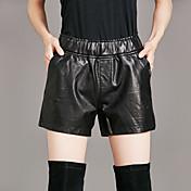 レディース ストリートファッション ミッドライズ ストレート strenchy ショーツ パンツ ゼブラプリント