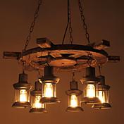 Lámparas Colgantes ,  Tradicional/Clásico Retro Campestre Pintura Característica for Mini Estilo Madera/BambúSala de estar Comedor