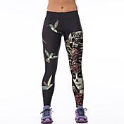 Dame Trykt mønster Medium Trykt mønster Legging Bomuld Polyester Onesize passer S-M. Se venligst størrelsestabellen nedenfor.,