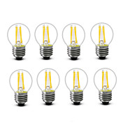 3.5 E14 E27 フィラメントタイプLED電球 G45 4 COB 300 lm 温白色 装飾用 AC220 AC230V印加時 AC240 V 8枚