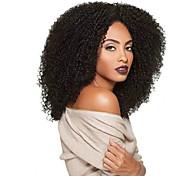Mujer Pelucas sintéticas Sin Tapa Largo Rizado Afro Negro Peluca afroamericana Para mujeres de color Peluca natural Las pelucas del traje