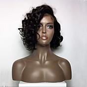 Mujer Pelucas de Cabello Natural Brasileño Cabello humano Encaje Frontal Frontal sin Pegamento 130% Densidad Corte Bob Con flequillo Con