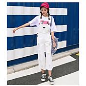 Mujer Adorable Chic de Calle Tiro Medio strenchy Mono Pantalones,Corte Recto Un Color