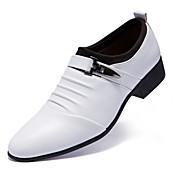 Hombre Zapatos Cuero Confort Oxfords Para Casual Blanco Negro