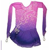 Vestido de Patinaje Sobre Hielo Patinaje Vestidos Alta elasticidad Figura vestido de patinaje Hecho a mano Espándex Ropa de Patinaje