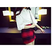 Mujer Noche Mini Faldas,Corte Bodycon Un Color