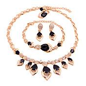 Dame Smykke Sæt Halskæde / Armbånd Brude Smykke sæt Kvadratisk Zirconium Mode Euro-Amerikansk minimalistisk stil KlassiskKvadratisk