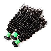 8a estilo rizado indio del pelo humano 3pieces 300g porción el pelo virginal indio sin procesar teje el color negro natural ninguÌ n