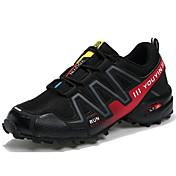 Hombre Zapatillas de Atletismo Confort Tul PU Primavera Otoño Exterior Deporte Running Con Cordón Tacón Plano Azul Oscuro Gris Negro/Rojo