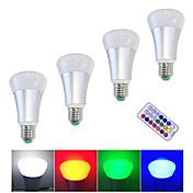 10W LEDスマート電球 ハイパワーLED 500 lm 温白色 RGB ホワイト 調光可能 リモコン操作 V 4個