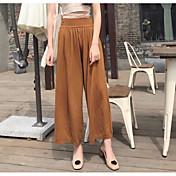 レディース ストリートファッション ミッドライズ ワイドレッグ 伸縮性 ルーズ ワイドレッグ パンツ ゼブラプリント