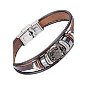 Pánské Kožené náramky Šperky příroda Módní bižuterie Kožené Slitina Šperky Pro Zvláštní příležitosti Sport
