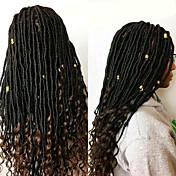 Rastas Faux Dreads Crochet faux dreads Extensiones de Dreadlock Kanekalon Negro Negro / Strawberry Blonde Negro / Borgoña Negro