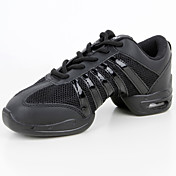 Personalizables Mujer Zapatillas de Baile Malla respirante Sintético Semicuero Zapatillas Entrenamiento Tacón Bajo Negro 2'5-4'5cms