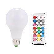 9w ac85-265v e26 / e27 10w led inteligentní žárovky a80 38 smd 5050 teplá bílá rgb v 1 ks