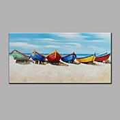 Pintada a mano Paisaje Horizontal,Moderno Un Panel Pintura al óleo pintada a colgar For Decoración hogareña