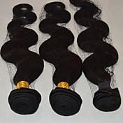 人間の髪編む ブラジリアンヘア ウェーブ 6ヶ月 4 ヘア織り