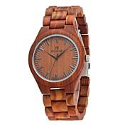 男性用 腕時計 ウッド 日本産 クォーツ 木製 ウッド バンド エレガント腕時計 ラグジュアリー ブラウン