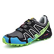 Hombre Zapatillas de Atletismo Suelas con luz PU Primavera Otoño Casual Running Suelas con luz Con Cordón Tacón Plano Gris Negro/Rojo5 -