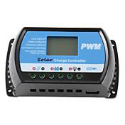 30a 12v / 24v solar regulador del cargador del panel regulador de la batería del usb lcd pwm