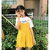 Mujer Sencillo Alta cintura Microelástico Perneras anchas Pantalones,Perneras anchas Un Color