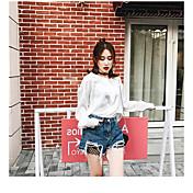 Mujer Adorable Tiro Alto Alta elasticidad Shorts Pantalones,Holgado Un Color