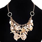 Mujer Chica Gargantillas Collares de cadena Collares Declaración Perla artificial JoyasDiseño Único Colgante Perla Amistad Adorable