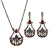 Mujer Pendientes colgantes Collar Diseño Único Pétalos Floral Moda Cosecha Personalizado Euramerican Joyería de Lujo Joyería Destacada
