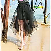 Mujer Noche Asimétrico Faldas,Holgado Verano Un Color