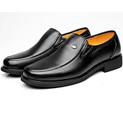 Hombre Zapatos Cuero Primavera Otoño Oxfords Para Negro