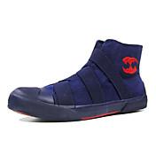 Muške Sneakers Udobne cipele Svjetleće tenisice Tkanina Proljeće Jesen Kauzalni Ravna potpetica Crn Dark Blue Sive boje Žutomrk Ravne