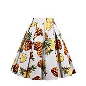 Damer I-byen-tøj Afslappet/Hverdag Ferie Midi Nederdele A-linje Geometrisk Forår Sommer Efterår