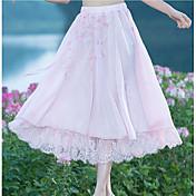 Mujer Noche Midi Faldas,Columpio Verano Un Color Estampado