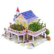 ジグソーパズル DIYキット 3Dパズル ビルディングブロック DIYのおもちゃ アーキテクチャ 天然木