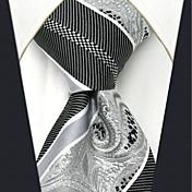 Hombre Todas las Temporadas Vintage Fiesta Trabajo Casual Oficina/ Negocios Alta calidad Moda Seda Corbata,Rayas