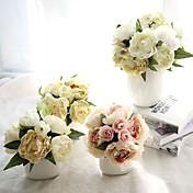 1個 1 ブランチ シルク ポリエステル ボタン テーブルトップフラワー 人工花