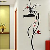 Botánico Floral/Botánico Romance Pegatinas de pared Calcomanías 3D para Pared Calcomanías Decorativas de Pared,Acrílico Material