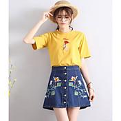 Mujer Noche Mini Faldas,Línea A Verano Floral
