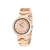 男性用 女性用 腕時計 ウッド 日本産 クォーツ 木製 ウッド バンド 創造的 ラグジュアリー エレガント腕時計 アイボリー
